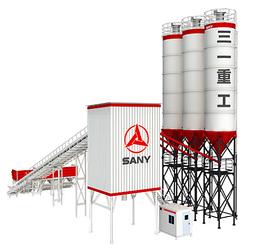 SANY HZS120F8 Бетоносмесительная установка производительность 120 м3/ч, емкость 2000л