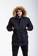 Мужская зимняя парка Node Alaska стильная теплая молодежная качественная (черная), ОРИГИНАЛ