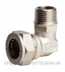 Угольник усиленный никелированный DISPIPE (BL15NHP) 15х1/2 (M)