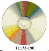 Коврик круглый цветной с рисунком Диск компьютер, фото 1