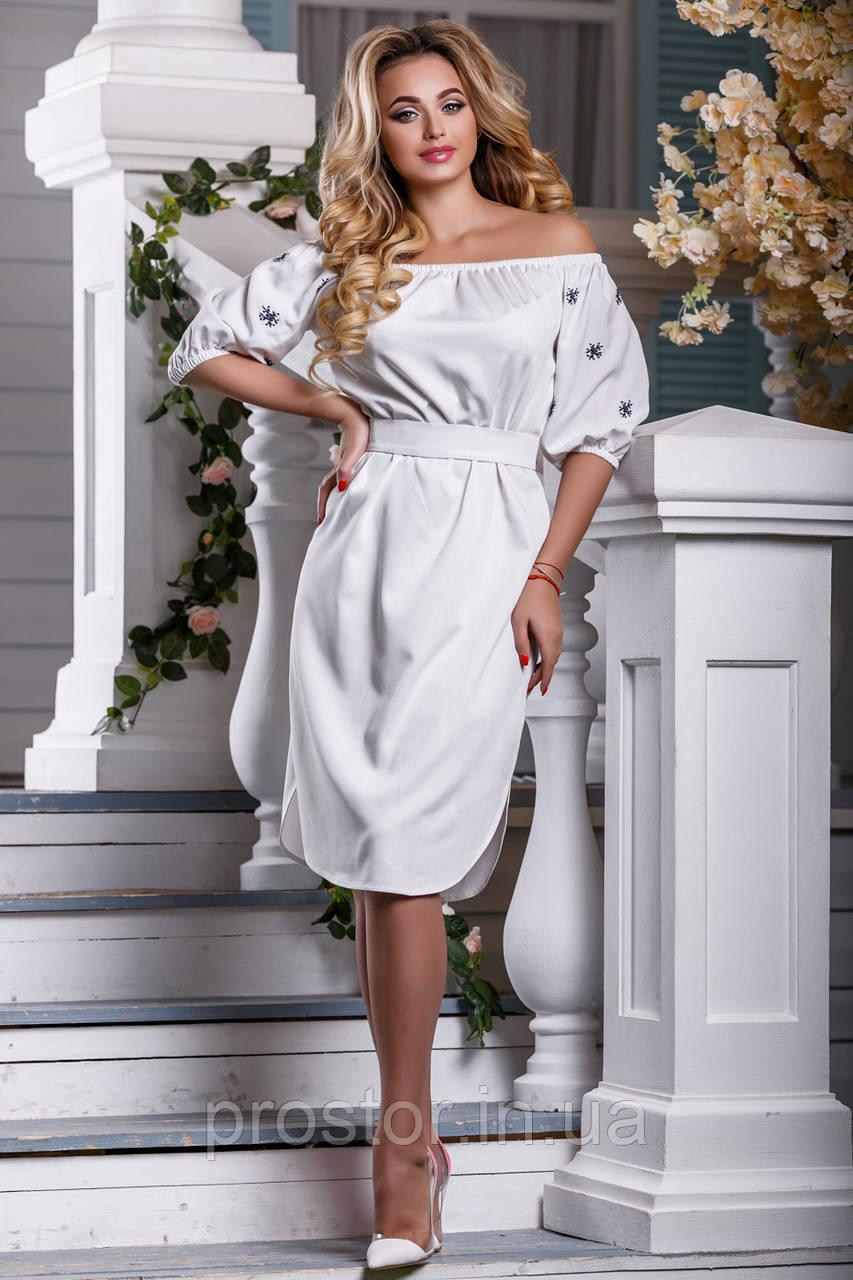 f0c596ab474 ✳️Белое Платье с Вышивкой   Размер M L XL XXL   Код 2603 — в ...