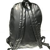 Рюкзаки спортивні кожвініл (чорний)30*44см, фото 3