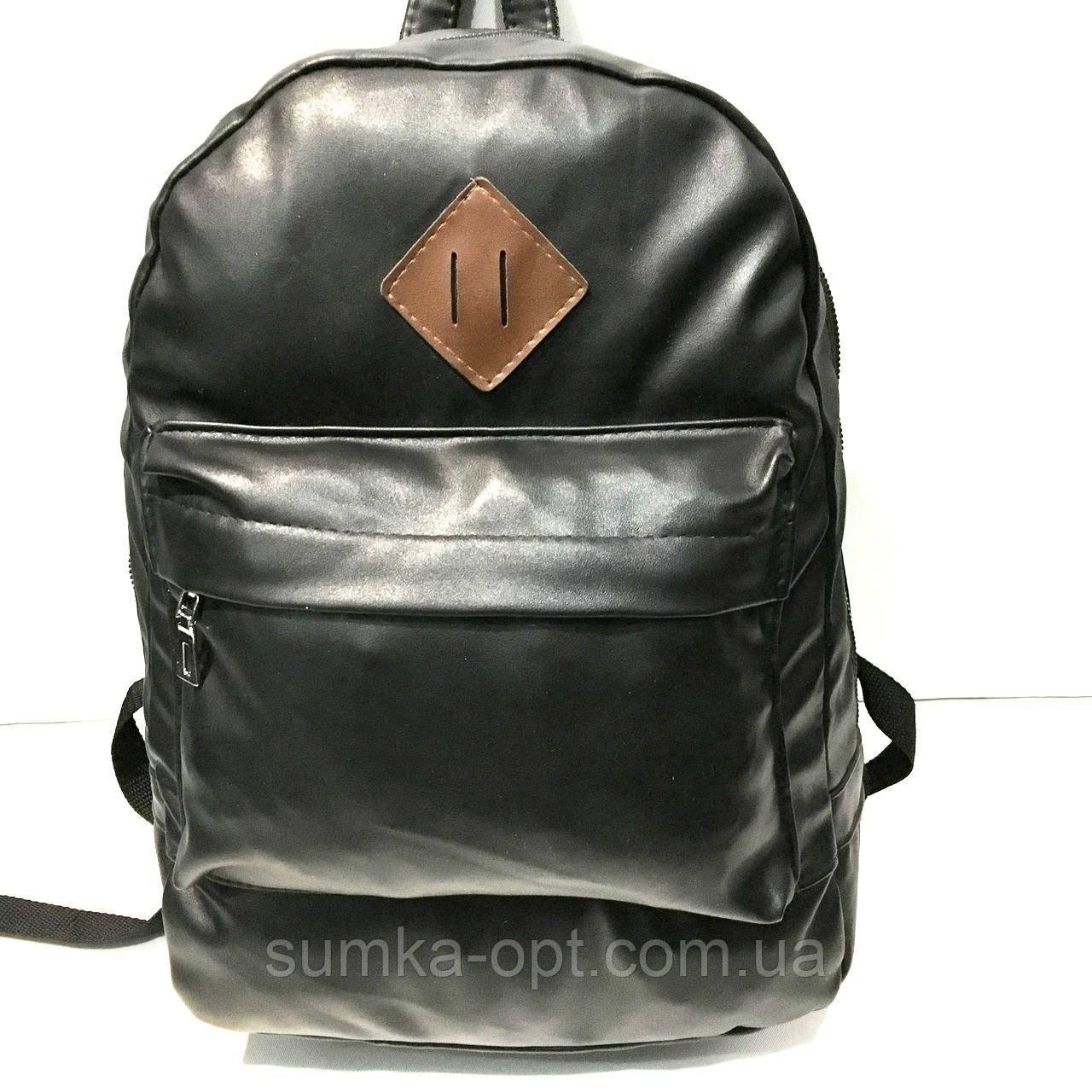Рюкзаки спортивні кожвініл (чорний)30*44см