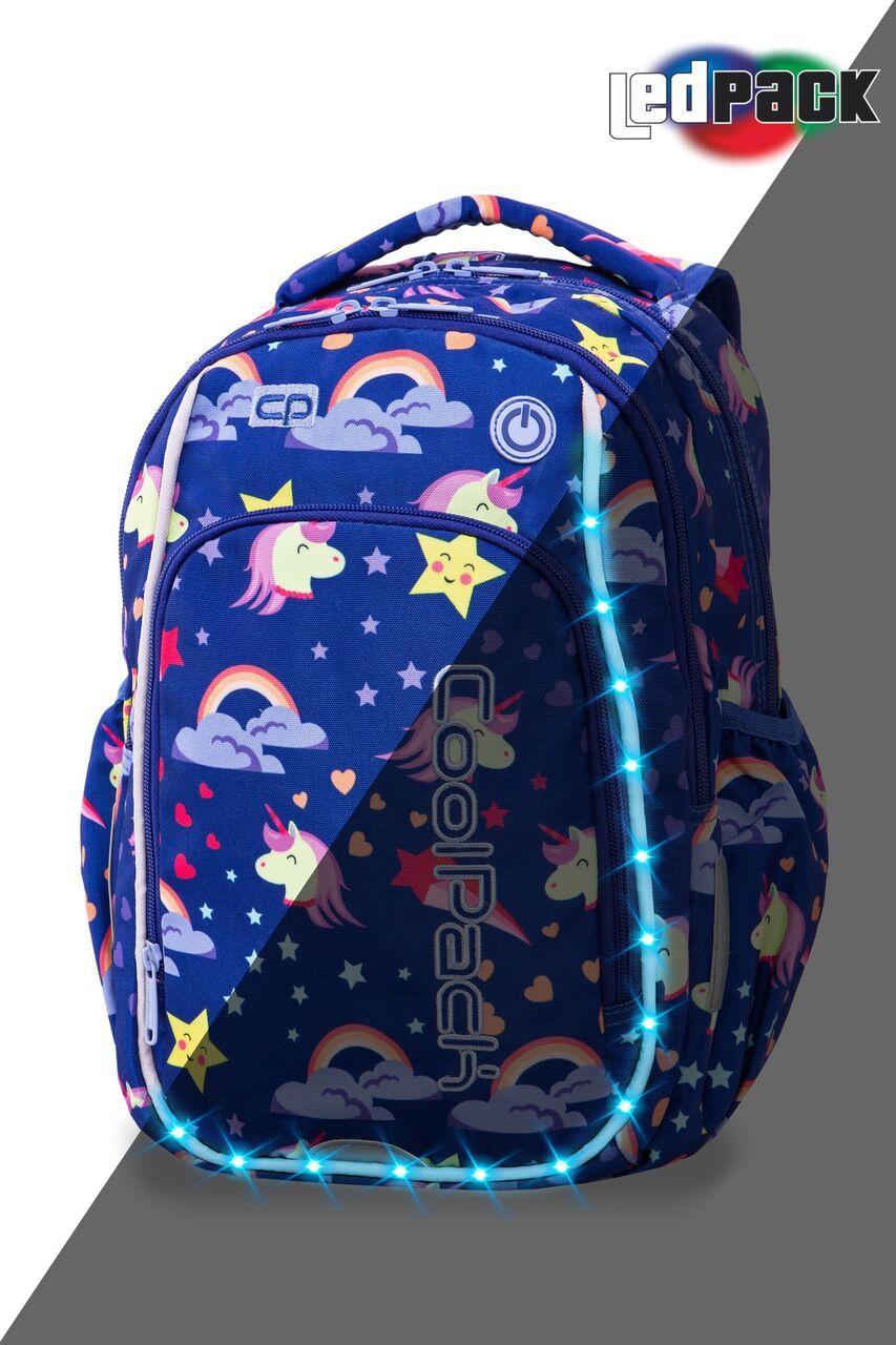 Рюкзак CoolPack LED 19L, модель Unicorns Strike S (38x28x18см)