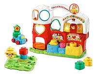Развивающая интерактивная игрушка для детей от ВТеч Ферма-сортер VTech Sort & Build Farm 80-504800