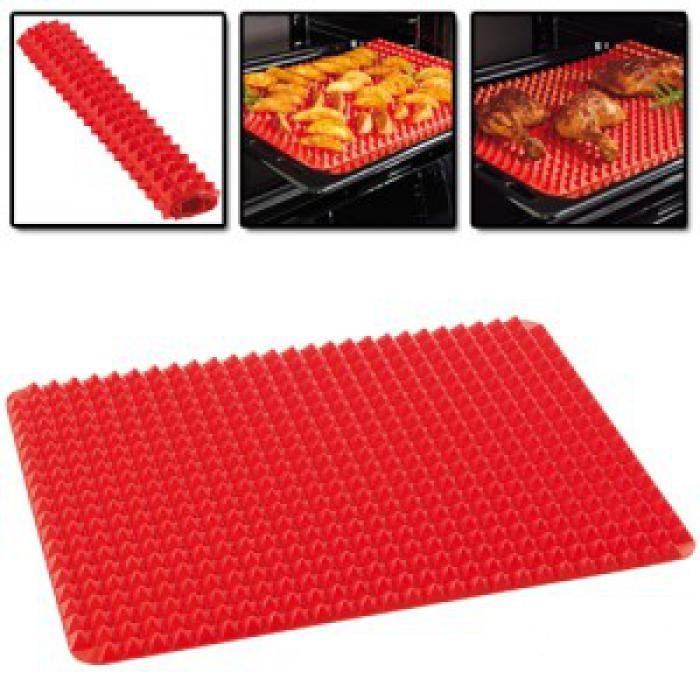 Красный силиконовый коврик для выпечки Pyramid Bakeware Pan