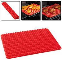 Красный силиконовый коврик для выпечки Pyramid Bakeware Pan, фото 1