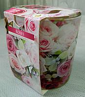 Свічка ароматизована в склі 100 г Троянди №27278 Свеча ароматизированая в стекле