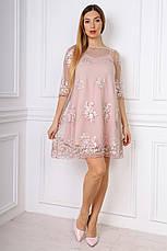 Изысканное короткое платье с утонченными узорами, фото 2