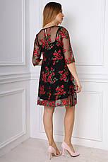 Изысканное короткое платье с утонченными узорами, фото 3