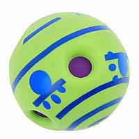 """Іграшка для собак SUNROZ Wobble Wag Giggle """"Хіхікаючій м'яч"""" Зелений (SUN2814)"""