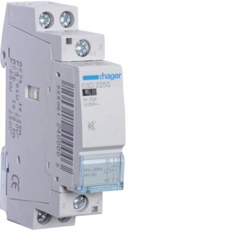 Контактор Hager 25A 2НО 24В бесшумный ESD225S