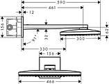 Нужно дешевле? Звоните. Hansgrohe Rainmaker Select 460 2jet Верхний душ с держателем 450 мм, белый/хром, фото 2