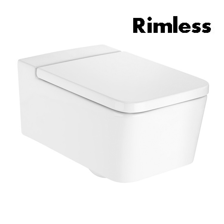 Звоните. Будет дешевле. Roca INSPIRA Square унитаз 370*560*440 мм, подвесной, Rimless, A346537000