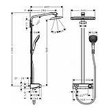 Нужно дешевле? Звоните. Hansgrohe Raindance Select E 360 1jet  ST Showerpipe Душевая система, 27288400, фото 2