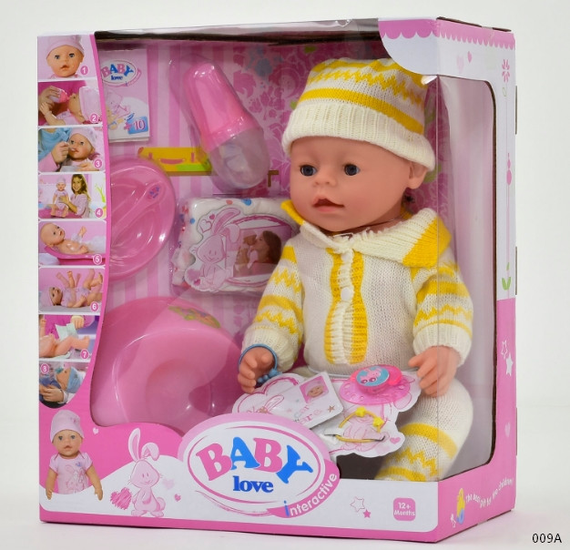 Интерактивный пупс Baby Love 30А, 09А