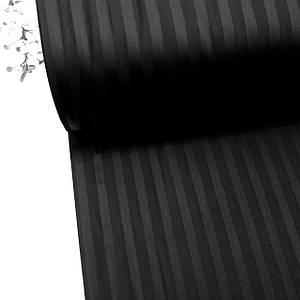 Сатин 100% хлопок  (ТУРЦИЯ шир. 2,4 м) Stripes черный отрез (размер 1,1*2,4 м)