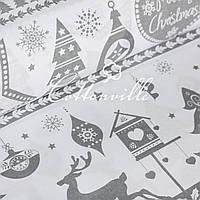 Польская бязь Рождество серая, фото 1