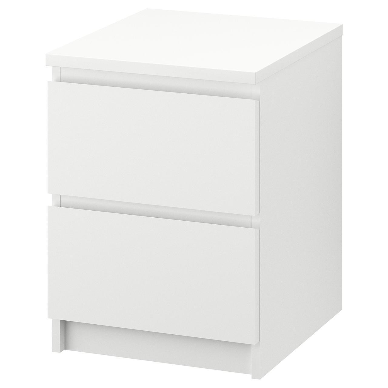 МАЛЬМ Комод с 2 ящиками, белый, 802.145.49