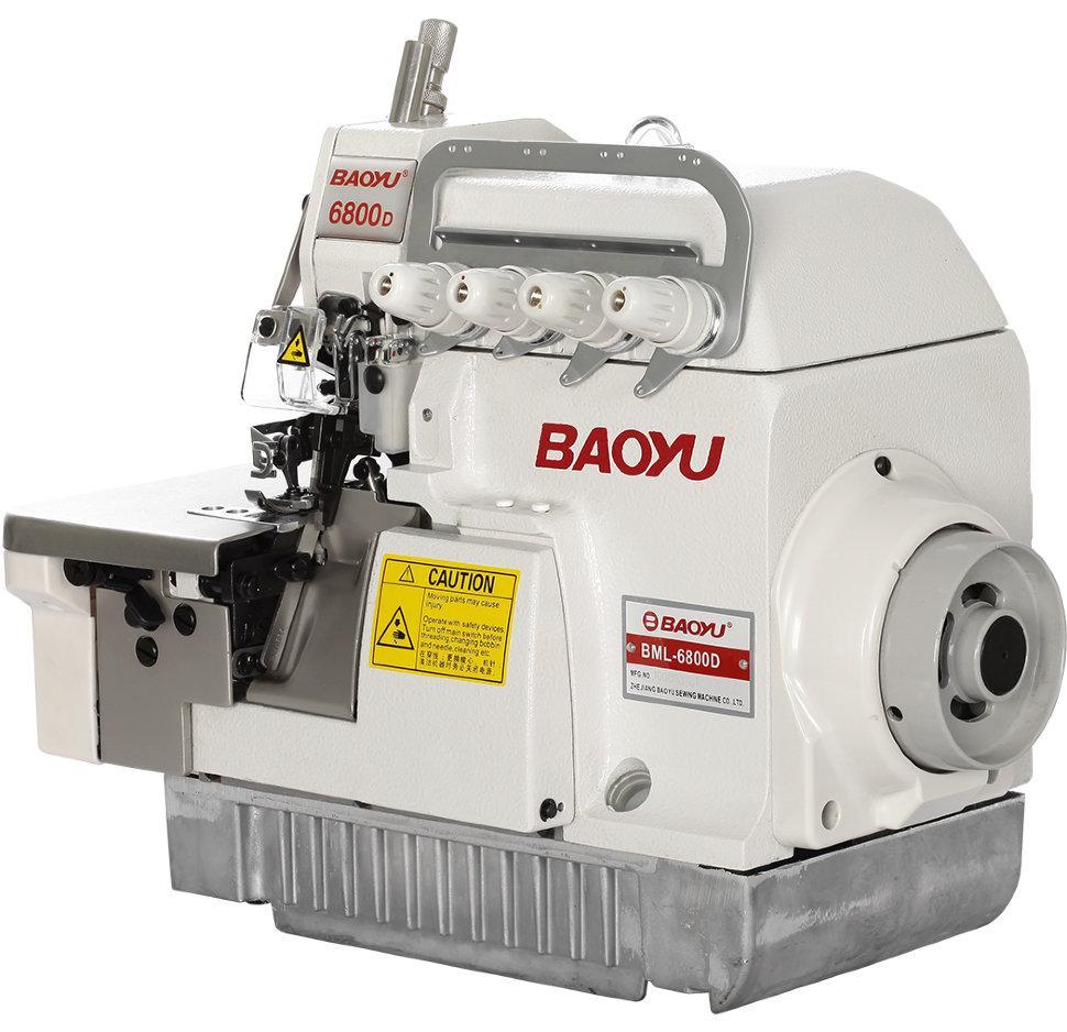 Baoyu BML-6804D, четырехниточный промышленный высокоскоростной оверлок с встроенным экономичным сервомотором
