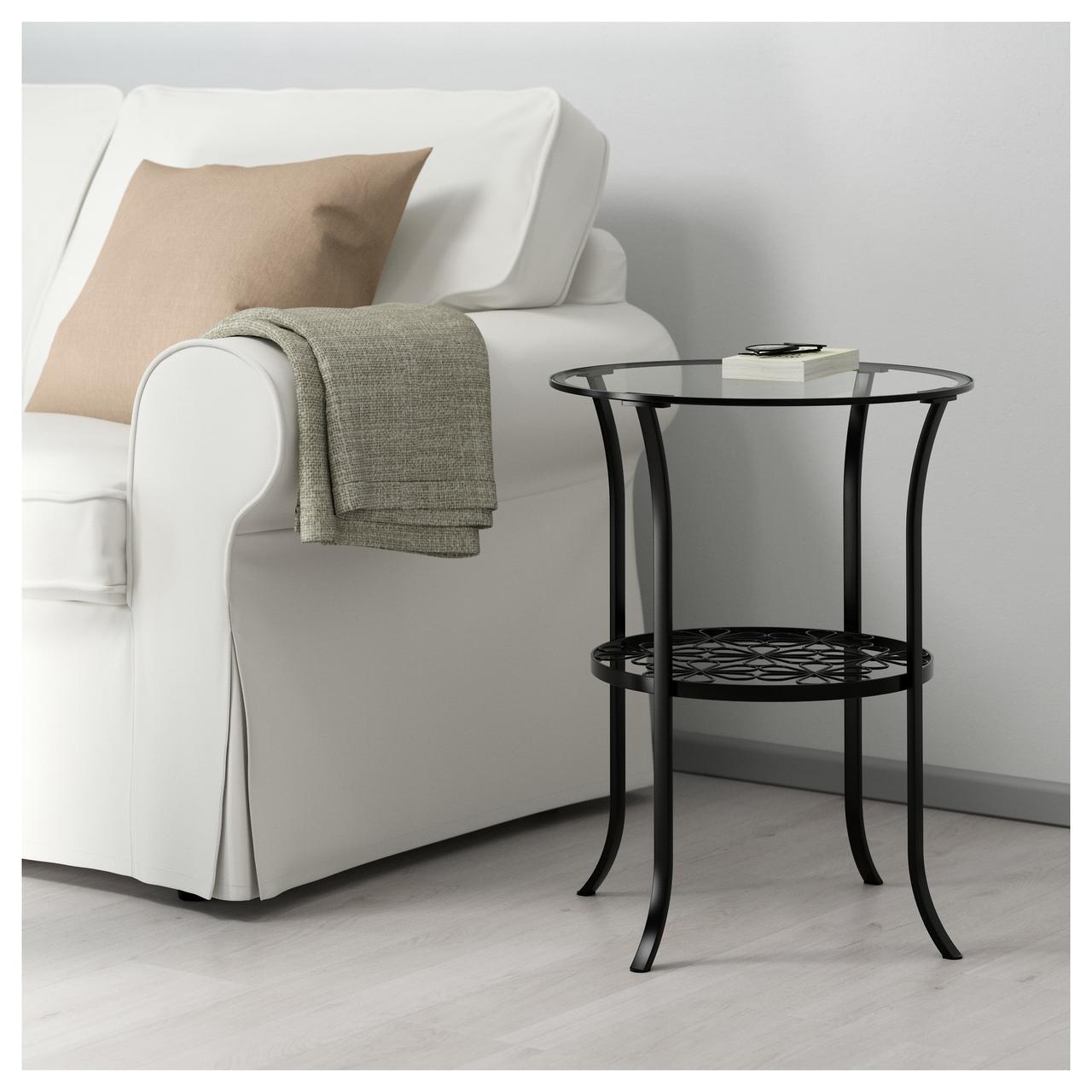 КЛИНГСБУ Придиванный столик, черный, 201.285.64