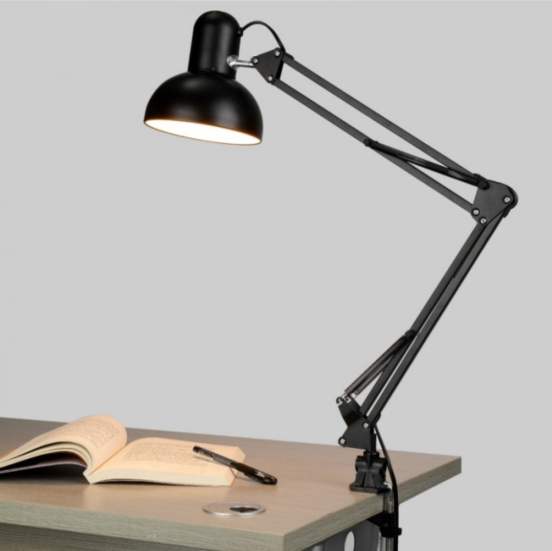Лампа настольная на струбцине МТ-811 черная