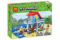 "Конструктор Minecraft Lele 33019  Майнкрафт""Домик на морском побережье"" (аналог Lego 7346), 470 деталей"