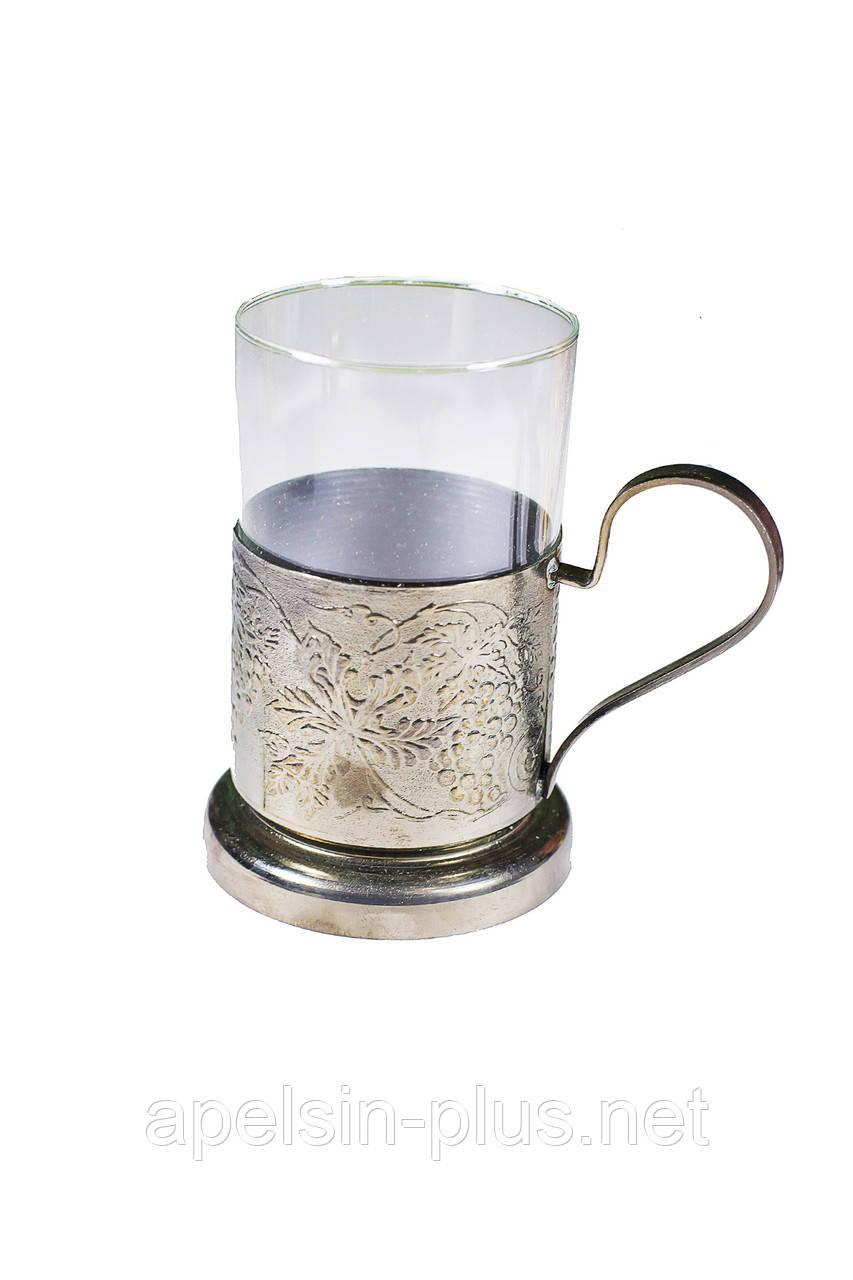Медный подстаканник ( стеклянный стакан)