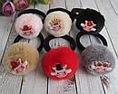 Резинки для волос меховые помпоны Свинки 12 шт/уп, фото 2