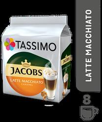 Кофе в капсулах Tassimo Jacobs Latte Macchiato Caramel 16 капсул (8 порц.) Германия (Тассимо), 268г