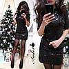 """Платье """"Огонек"""", паетка + подклад трикотаж.  Размер:42-44,44-46. Цвета разные (5335), фото 2"""
