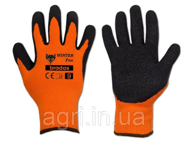 Перчатки защитные WINTER FOX латекс, размер 9. Утеплённые.