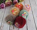 Резинки для волос Свинка Пеппа с мехом 10 шт/уп, фото 2