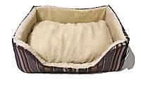 """Диван """"Эльдорадо"""" для собак, серый, средний, 54 см х 45 см х 21 см"""