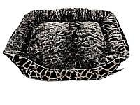 "Диван ""Эльдорадо"" для собак, серый, маленький, 50 см х 35 см х 13 см"