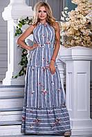 ac629163fe34 ✳️Длинное хлопковое платье с вышивкой   Размер M L XL XXL   Код 2662