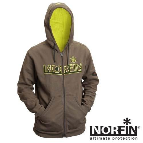 Куртка флисовая с капюшоном Norfin Hoody Green XXL
