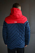 Мужская зимняя куртка Fila стёганная , фото 3