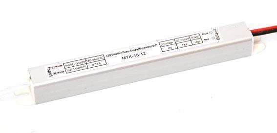 Блок питания 12V 18W (1.5A) slim