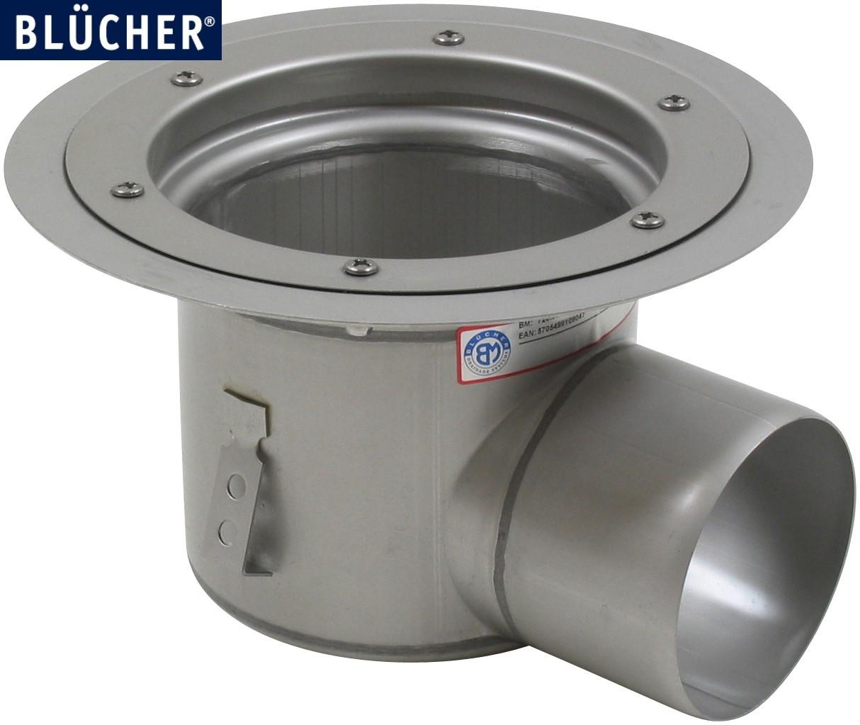 Промисловий трап Blucher 726.602.110, нержавіюча сталь, горизонтальний вихід DN110