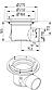 Промисловий трап Blucher 726.602.110, нержавіюча сталь, горизонтальний вихід DN110, фото 2