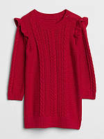 Красное вязанное платье для девочки GAP  0-3 мес/50-58 см