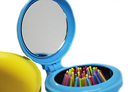 Расческа раскладная с зеркалом (круглые)