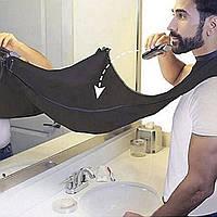 Фартук для бритья в ванной комнате нагрудник для бритья  бороды водонепроницаемая ткань Pongee M411 белый