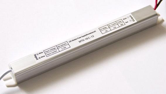 Блок питания 12V 18W (1.5A) slim-с