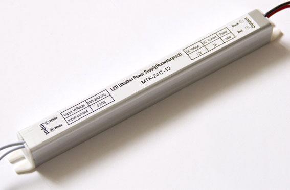 Блок питания 12V 24W (2A) slim-с
