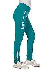 Спортивные лосины больших размеров женские, штаны трикотажные (батал), бирюзовые