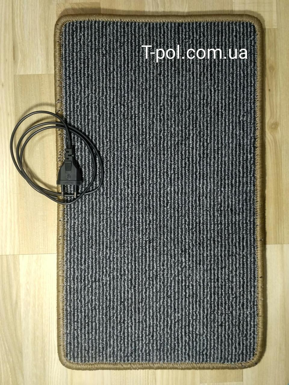 Нагревательный коврик для ног и сушки обуви серый 50см*30см