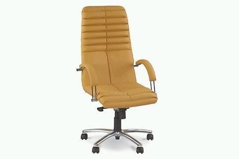 Кресло кожаное для руководителя «GALAXY steel chrome» SP