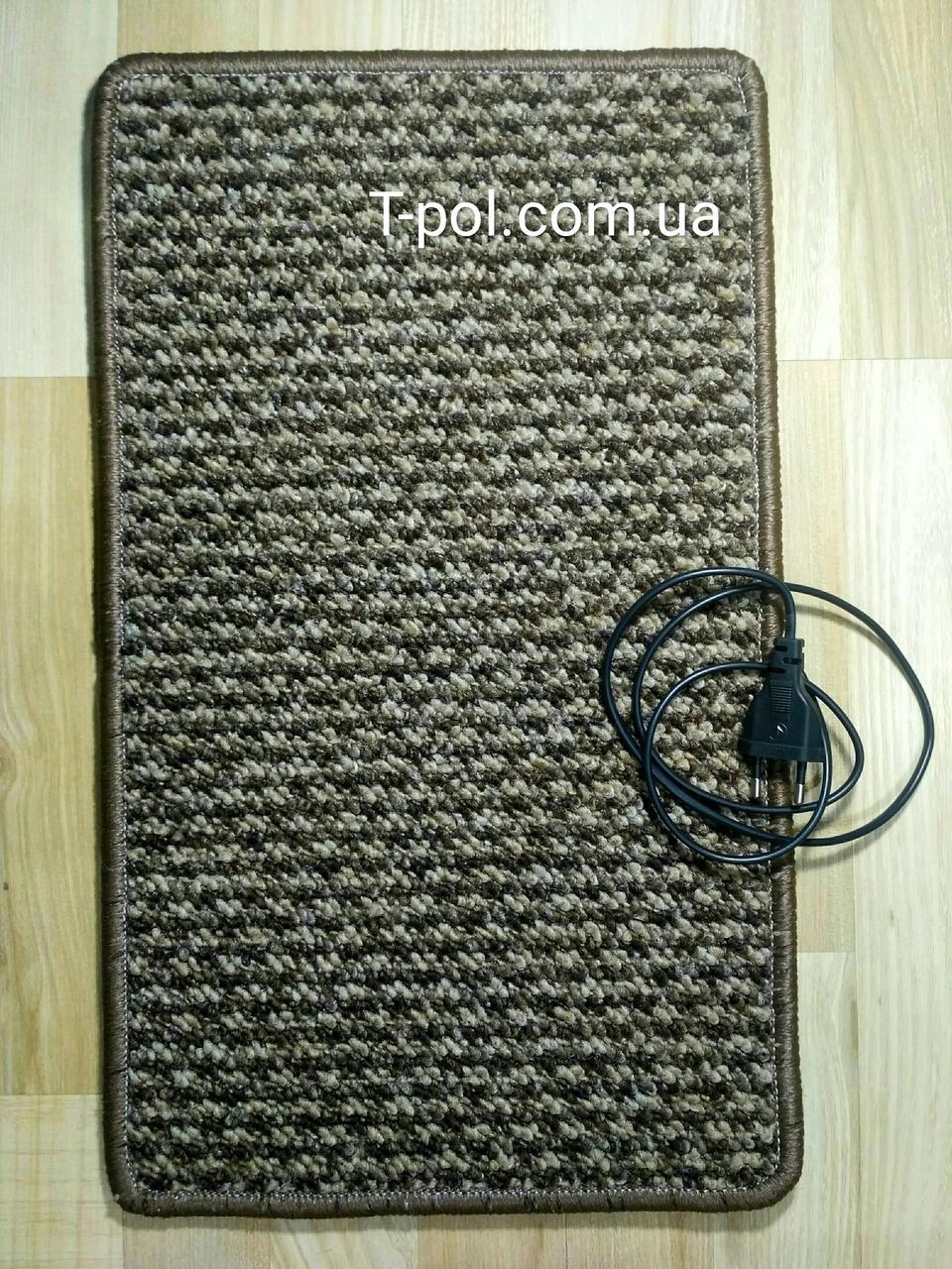 Нагревательный коврик для ног и сушки обуви коричневый 50см*30см
